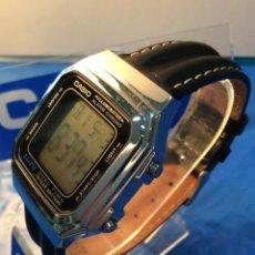 Relojes - Casio: RELOJ CASIO A 178 PIEL ¡¡ BATERIA DE 10 AÑOS !! VINTAGE ¡¡NUEVO¡¡ (VER FOTOS). Lote 212637375