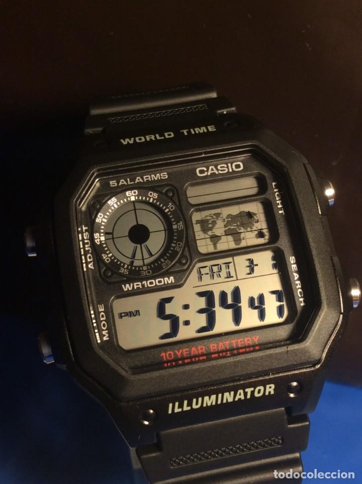 RELOJ CASIO AE 1200 ¡¡ 5 ALARMAS - WR 100 M !! ¡¡NUEVO!! (VER FOTOS) (Relojes - Relojes Actuales - Casio)