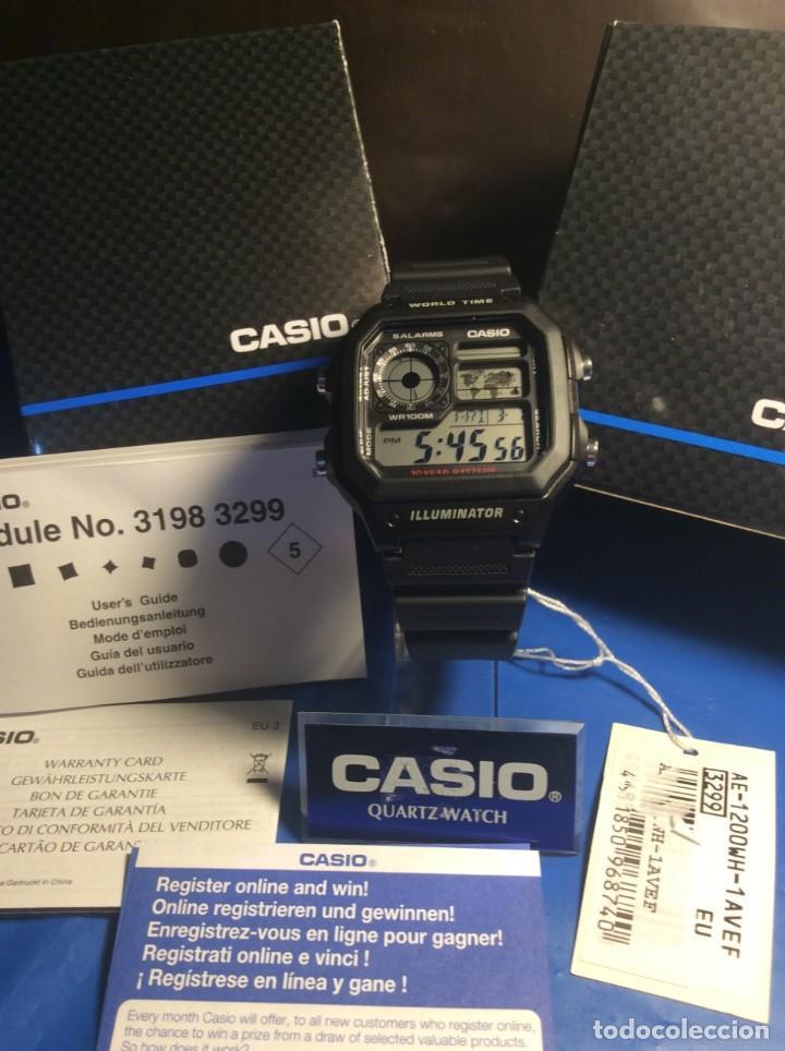 Relojes - Casio: RELOJ CASIO AE 1200 ¡¡ 5 ALARMAS - WR 100 M !! ¡¡NUEVO!! (VER FOTOS) - Foto 4 - 184655125