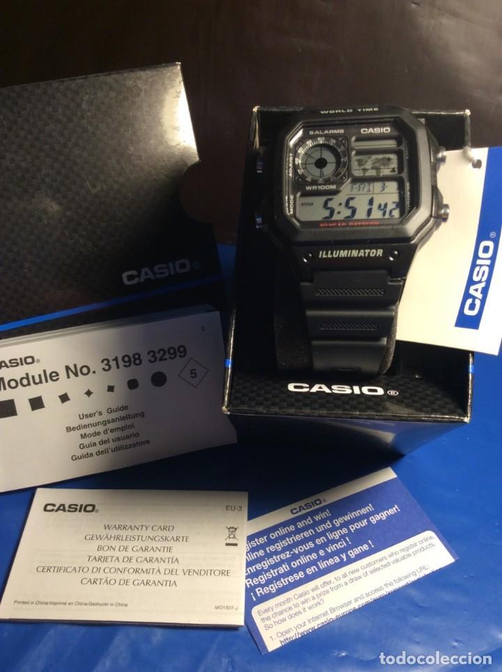 Relojes - Casio: RELOJ CASIO AE 1200 ¡¡ 5 ALARMAS - WR 100 M !! ¡¡NUEVO!! (VER FOTOS) - Foto 7 - 184655125