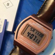Relojes - Casio: RELOJ CASIO B 640 ( CORREA PIEL - MARRON ) ¡¡NUEVO!! (VER FOTOS). Lote 185417427