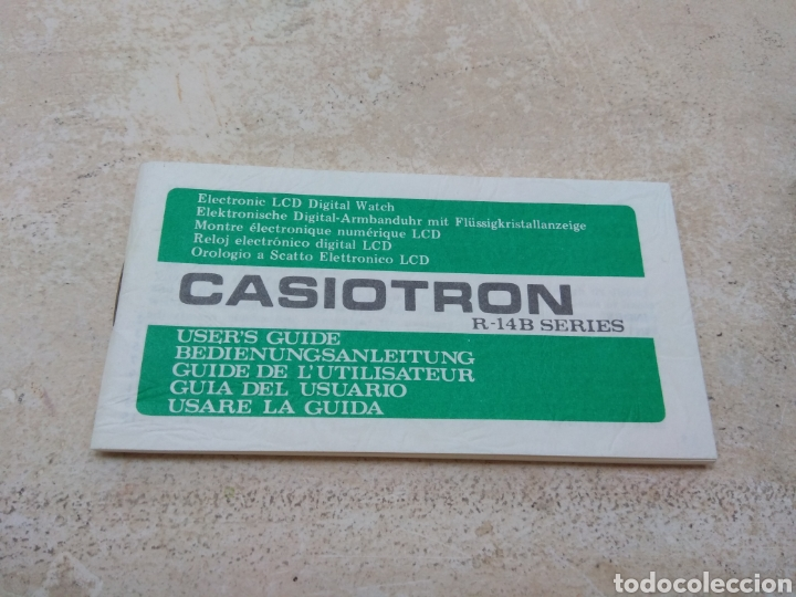 ANTIGUA GUÍA DEL USUARIO - INSTRUCCIONES RELOJ CASIOTRON - CASIO (Relojes - Relojes Actuales - Casio)
