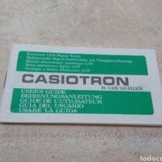 Relojes - Casio: ANTIGUA GUÍA DEL USUARIO - INSTRUCCIONES RELOJ CASIOTRON - CASIO. Lote 185937620