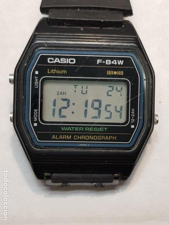 RELOJ CASIO F-84W FUNCIONANDO MUY BUSCADO (Relojes - Relojes Actuales - Casio)
