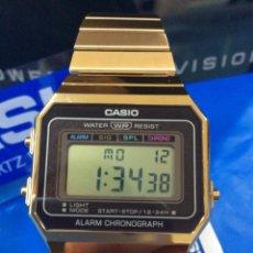 Relojes - Casio: RELOJ CASIO A 700 GOLD ¡¡ NUEVO DISEÑO VINTAGE !! ¡¡NUEVO¡¡ (VER FOTOS). Lote 187218030