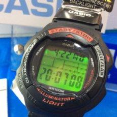 Relojes - Casio: RELOJ CASIO WS 100 H ¡¡¡ LAP 10 MEMORY !! VINTAGE ¡¡NUEVO!! (VER FOTOS). Lote 253925990