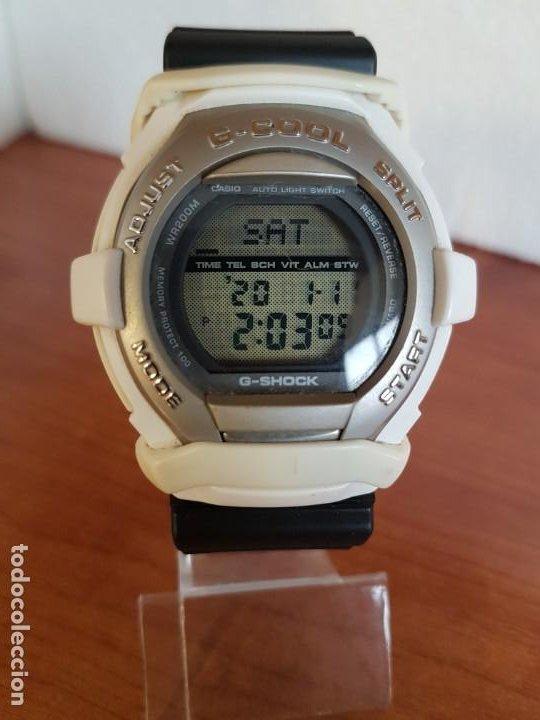 RELOJ CABALLERO CASIO MODELO GT - 004 - 1632 DIGITAL EN BLANCO, CORREA DE SILICONA CASIO NEGRA (Relojes - Relojes Actuales - Casio)