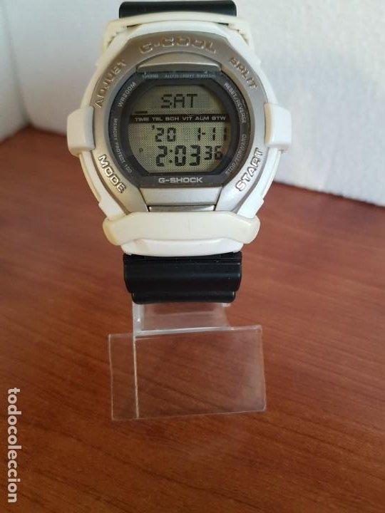 Relojes - Casio: Reloj caballero CASIO modelo GT - 004 - 1632 digital en blanco, correa de silicona Casio negra - Foto 7 - 190867448