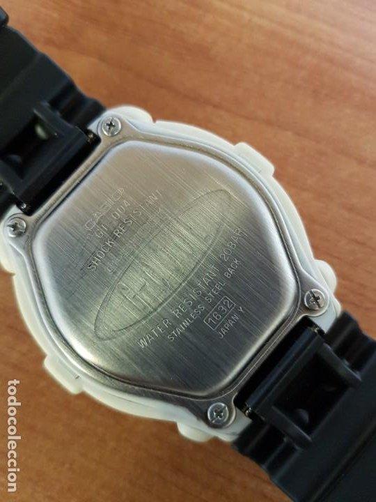 Relojes - Casio: Reloj caballero CASIO modelo GT - 004 - 1632 digital en blanco, correa de silicona Casio negra - Foto 17 - 190867448