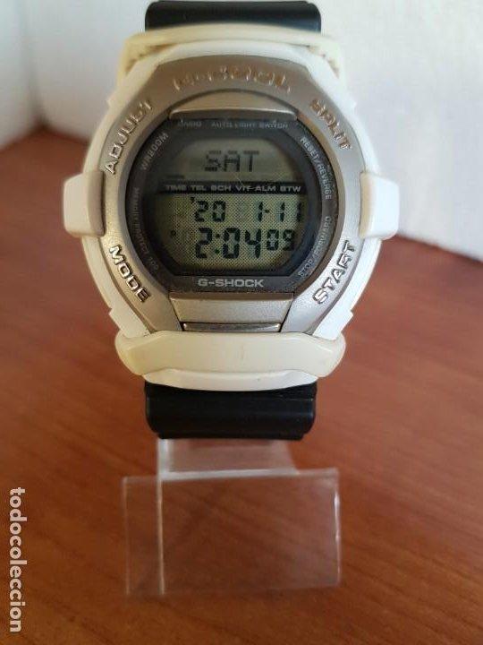 Relojes - Casio: Reloj caballero CASIO modelo GT - 004 - 1632 digital en blanco, correa de silicona Casio negra - Foto 18 - 190867448