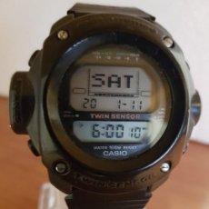 Relojes - Casio: RELOJ CABALLERO (VINTAGE) CASIO 1282. ALT-6200, ALTÍMETRO, BARÓMETRO, TERMÓMETRO, ETC, CORREA GOMA. Lote 191041531