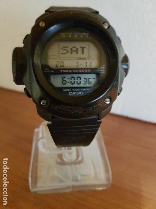 Relojes - Casio: Reloj caballero (Vintage) CASIO 1282. ALT-6200, altímetro, barómetro, termómetro, etc, correa goma - Foto 3 - 191041531