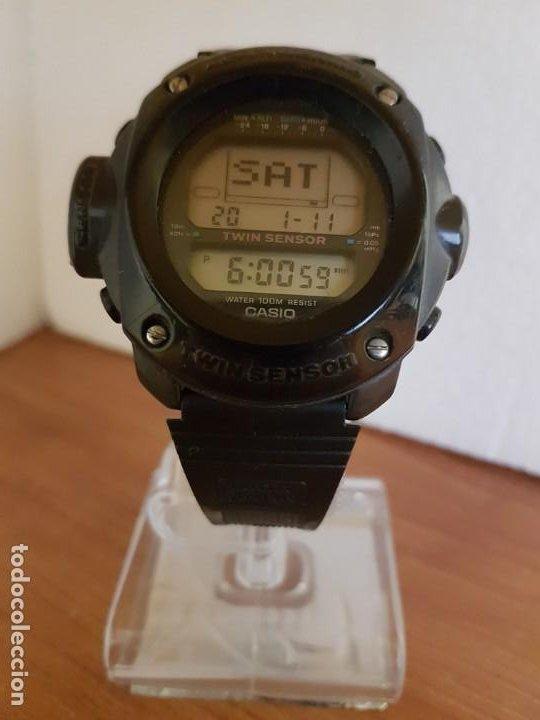 Relojes - Casio: Reloj caballero (Vintage) CASIO 1282. ALT-6200, altímetro, barómetro, termómetro, etc, correa goma - Foto 10 - 191041531