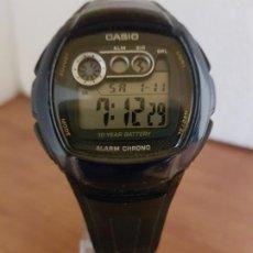 Relojes - Casio: RELOJ CABALLERO MARCA CASIO CUARZO DIGITAL CAJA RESINA TAPA DE ACERO, CORREA ORIGINAL SEGUNDA MANO . Lote 191090520