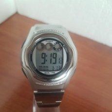 Relojes - Casio: RELOJ CABALLERO (VINTAGE) CASIO DIGITAL MODELO 2481. W-E11 DE SILICONA Y ACERO, CORREA DE ACERO . Lote 191194715
