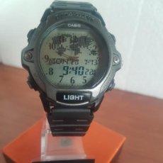 Relojes - Casio: RELOJ CABALLERO MARCA CASIO ANALÓGICO Y DIGITAL EN ACERO Y RESINA CON CORREA SILICONA NUEVA SIN USO.. Lote 224592345