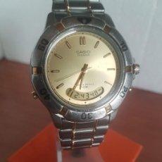 Relojes - Casio: RELOJ CABALLERO (VINTAGE) CASIO OCEANUS, ANALÓGICO Y DIGITAL EN ACERO CON CORREA DE ACERO ORIGINAL. Lote 191211207