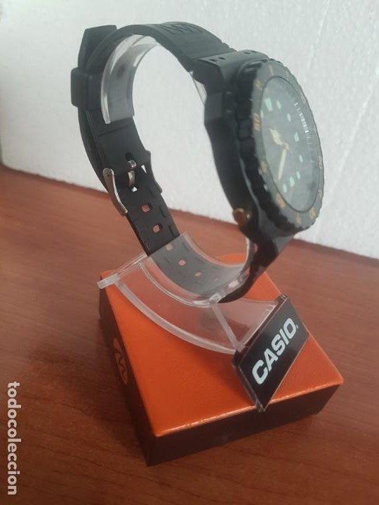 Relojes - Casio: Reloj caballero (Vintage) CASIO Analógico y digital, caja resina con tapa acero, correa silicona - Foto 8 - 191289503