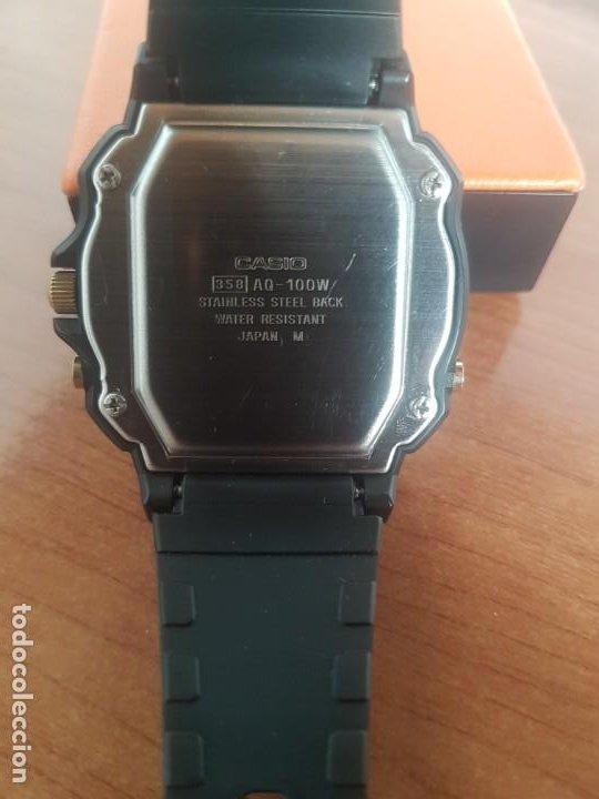 Relojes - Casio: Reloj caballero (Vintage) CASIO Analógico y digital, caja resina con tapa acero, correa silicona - Foto 10 - 191289503