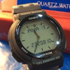 Relojes - Casio: RELOJ CASIO ABX 52 -DATA BANK - ¡VINTAGE! ¡¡NUEVO!! (VER FOTOS). Lote 154194970