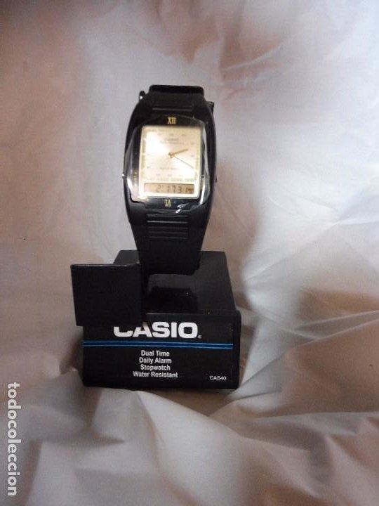 RELOJ CASIO DUAL TIME ANALÓGICO Y DIGITAL CAS40 NUEVO CON INSTRUCCIONES (Relojes - Relojes Actuales - Casio)
