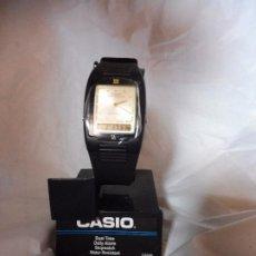 Relojes - Casio: RELOJ CASIO DUAL TIME ANALÓGICO Y DIGITAL CAS40 NUEVO CON INSTRUCCIONES. Lote 193962167