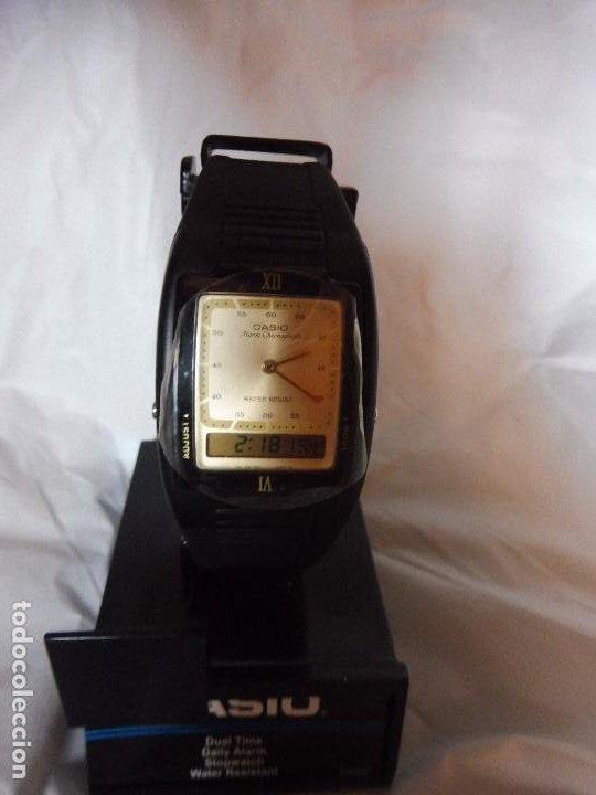 Relojes - Casio: Reloj Casio Dual Time analógico y digital CAS40 nuevo con instrucciones - Foto 4 - 193962167