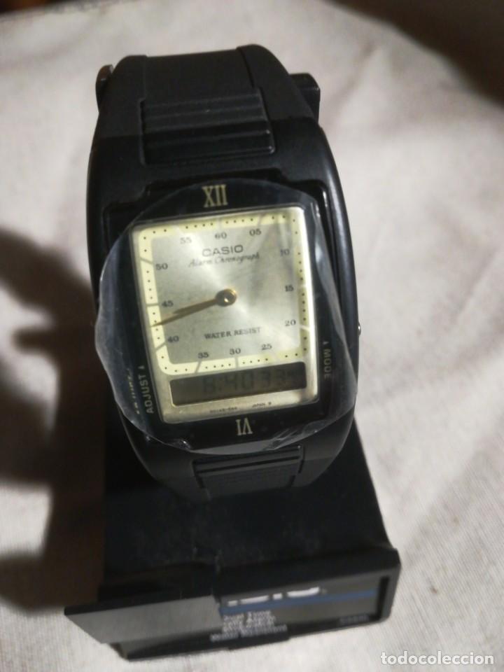Relojes - Casio: Reloj Casio Dual Time analógico y digital CAS40 nuevo con instrucciones - Foto 3 - 193962167