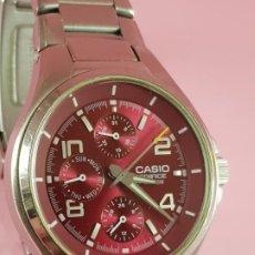 Relojes - Casio: RELOJ-CASIO EDIFICE-BUEN ESTADO GENERAL-42 MM CON CORONA-EXCELENTE ESTADO-REPASADO EN JOYERÍA-CAJA. Lote 189205872