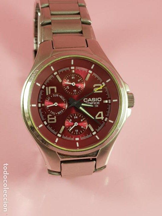 Relojes - Casio: reloj-casio edifice-BUEN ESTADO GENERAL-42 mm con corona-excelente estado-repasado en joyería-caja - Foto 22 - 189205872
