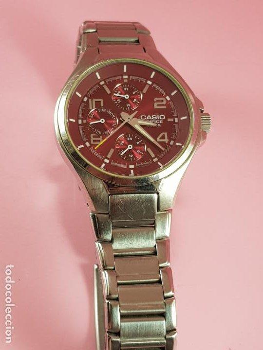 Relojes - Casio: reloj-casio edifice-BUEN ESTADO GENERAL-42 mm con corona-excelente estado-repasado en joyería-caja - Foto 18 - 189205872