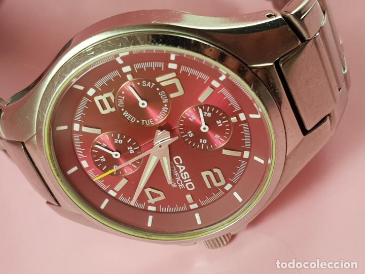 Relojes - Casio: reloj-casio edifice-BUEN ESTADO GENERAL-42 mm con corona-excelente estado-repasado en joyería-caja - Foto 8 - 189205872