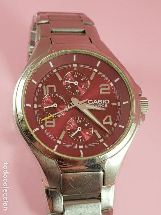 Relojes - Casio: reloj-casio edifice-BUEN ESTADO GENERAL-42 mm con corona-excelente estado-repasado en joyería-caja - Foto 5 - 189205872