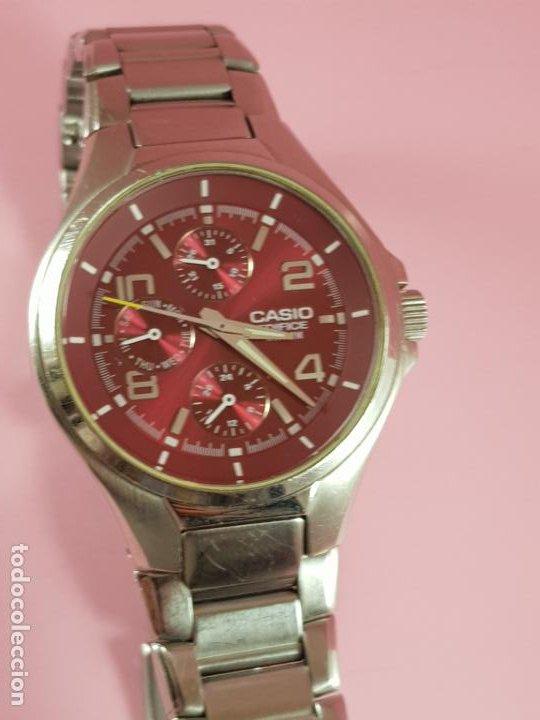Relojes - Casio: reloj-casio edifice-BUEN ESTADO GENERAL-42 mm con corona-excelente estado-repasado en joyería-caja - Foto 3 - 189205872