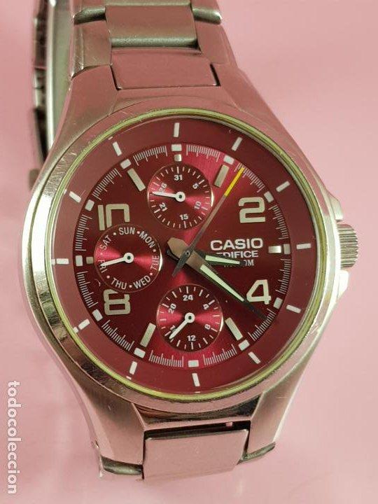 Relojes - Casio: reloj-casio edifice-BUEN ESTADO GENERAL-42 mm con corona-excelente estado-repasado en joyería-caja - Foto 19 - 189205872