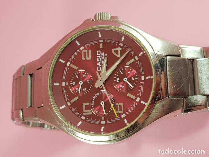 Relojes - Casio: reloj-casio edifice-BUEN ESTADO GENERAL-42 mm con corona-excelente estado-repasado en joyería-caja - Foto 10 - 189205872