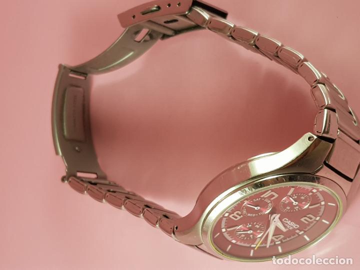 Relojes - Casio: reloj-casio edifice-BUEN ESTADO GENERAL-42 mm con corona-excelente estado-repasado en joyería-caja - Foto 20 - 189205872