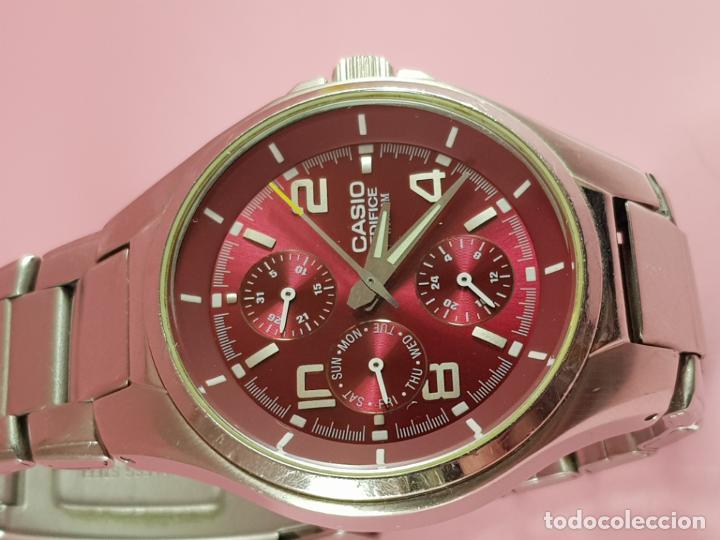 Relojes - Casio: reloj-casio edifice-BUEN ESTADO GENERAL-42 mm con corona-excelente estado-repasado en joyería-caja - Foto 12 - 189205872