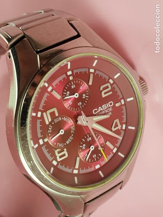 Relojes - Casio: reloj-casio edifice-BUEN ESTADO GENERAL-42 mm con corona-excelente estado-repasado en joyería-caja - Foto 14 - 189205872