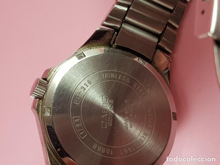 Relojes - Casio: reloj-casio edifice-BUEN ESTADO GENERAL-42 mm con corona-excelente estado-repasado en joyería-caja - Foto 21 - 189205872