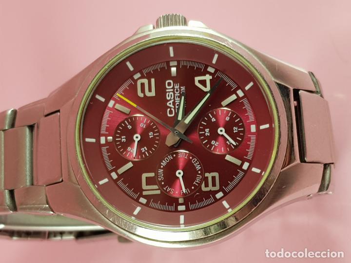 Relojes - Casio: reloj-casio edifice-BUEN ESTADO GENERAL-42 mm con corona-excelente estado-repasado en joyería-caja - Foto 23 - 189205872