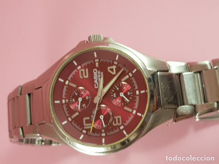 Relojes - Casio: reloj-casio edifice-BUEN ESTADO GENERAL-42 mm con corona-excelente estado-repasado en joyería-caja - Foto 24 - 189205872