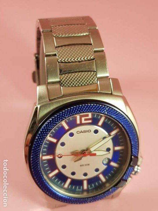 Relojes - Casio: RELOJ-CASIO-AZULES-JAPÓN-BUEN ESTADO GENERAL-IRÍA EN CAJA SIN DEFINIR-VER FOTOS - Foto 3 - 195239306