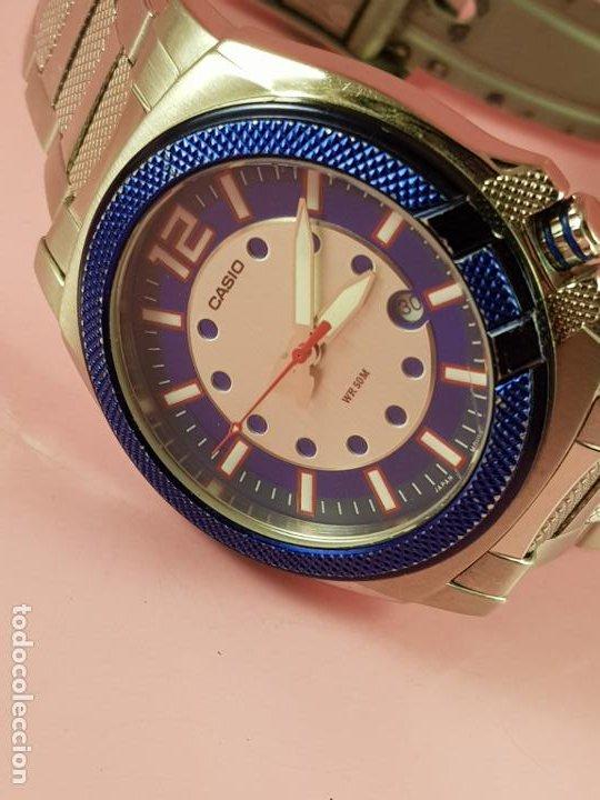 Relojes - Casio: RELOJ-CASIO-AZULES-JAPÓN-BUEN ESTADO GENERAL-IRÍA EN CAJA SIN DEFINIR-VER FOTOS - Foto 8 - 195239306