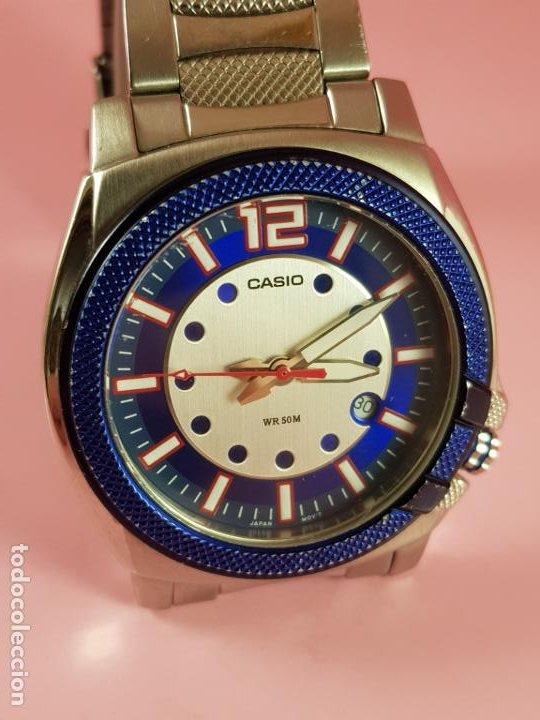 Relojes - Casio: RELOJ-CASIO-AZULES-JAPÓN-BUEN ESTADO GENERAL-IRÍA EN CAJA SIN DEFINIR-VER FOTOS - Foto 10 - 195239306