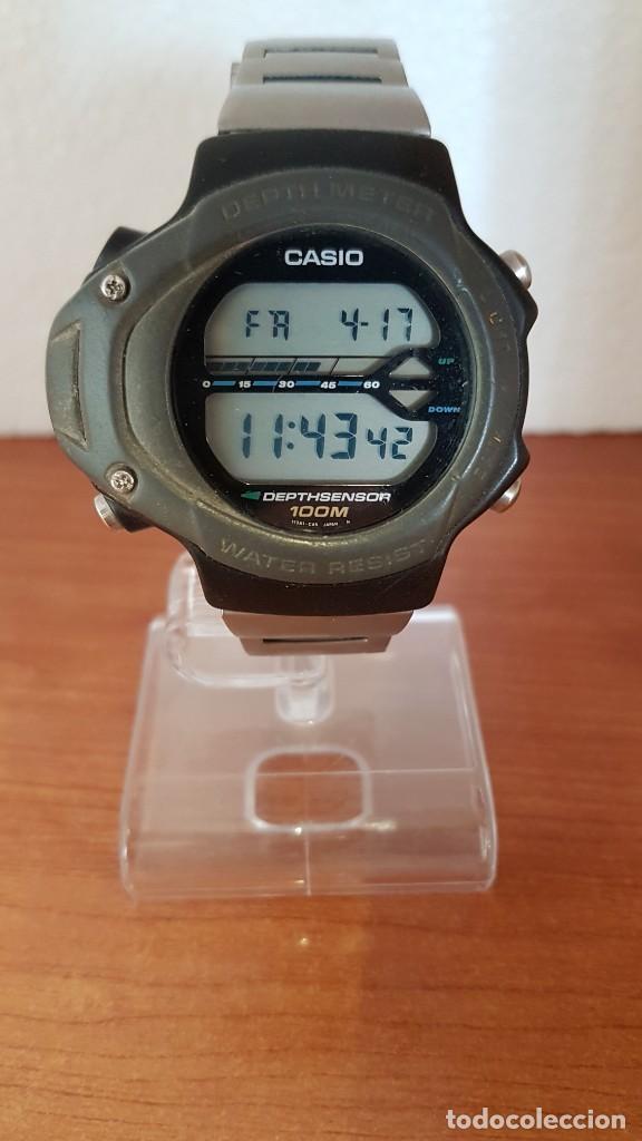 RELOJ CABALLERO (VINTAGE) CASIO 994 - SNK - 100, CRISTAL SIN RAYAS, SENSOR, CORREA GOMA NO ORIGINAL (Relojes - Relojes Actuales - Casio)