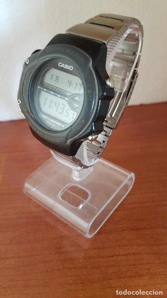 Relojes - Casio: Reloj caballero (Vintage) CASIO 994 - SNK - 100, cristal sin rayas, sensor, correa goma no original - Foto 2 - 200808926