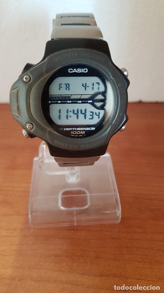 Relojes - Casio: Reloj caballero (Vintage) CASIO 994 - SNK - 100, cristal sin rayas, sensor, correa goma no original - Foto 3 - 200808926