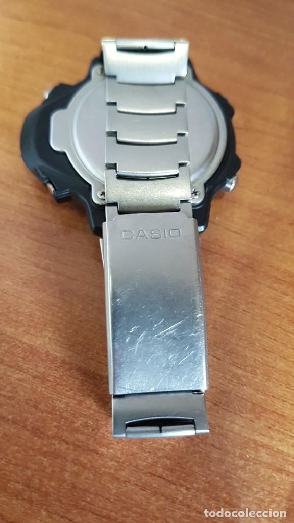 Relojes - Casio: Reloj caballero (Vintage) CASIO 994 - SNK - 100, cristal sin rayas, sensor, correa goma no original - Foto 4 - 200808926