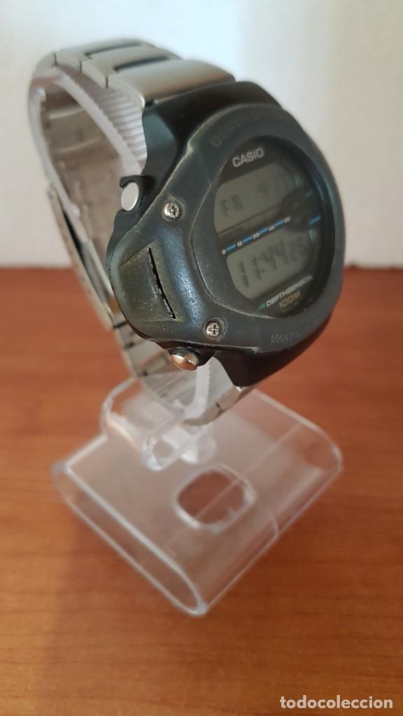 Relojes - Casio: Reloj caballero (Vintage) CASIO 994 - SNK - 100, cristal sin rayas, sensor, correa goma no original - Foto 5 - 200808926